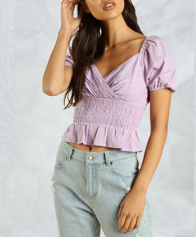 Purple Puff Top