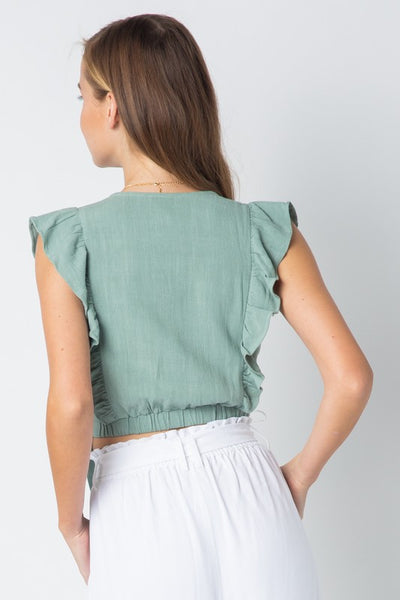 Wrapped in Sage Top - Alyanna by Alexandra