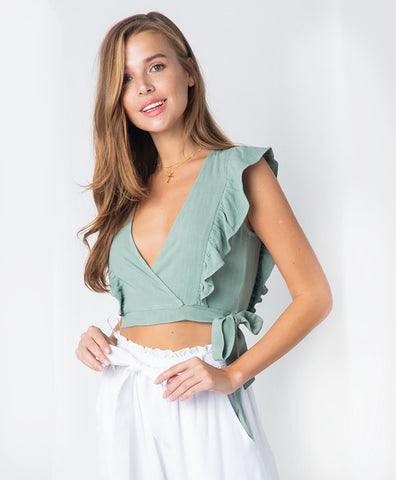 Wrapped in Sage Top