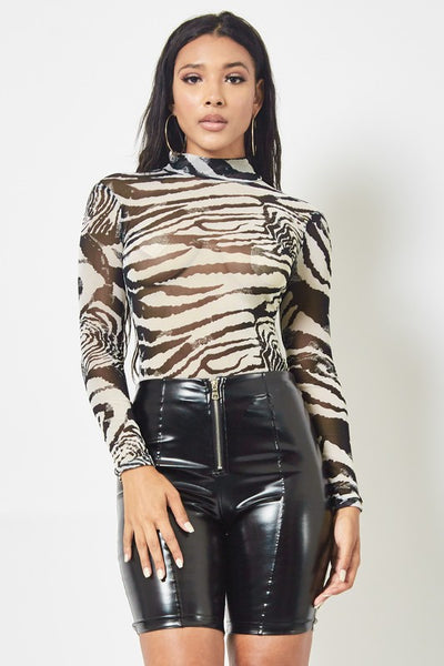 Don't Mess With the ZEBRA Bodysuit - Alyanna by Alexandra