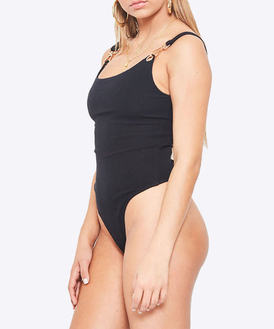 Black Thin Bodysuit