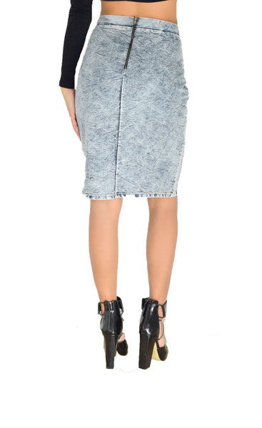 Distressed Denim Skirt - Alyanna by Alexandra