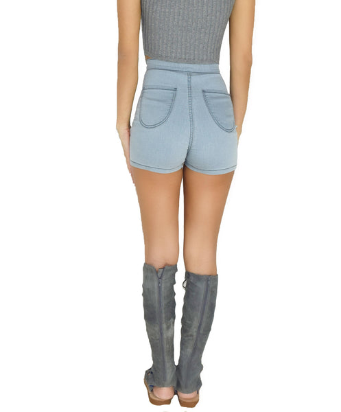 High Waist Shorts - Alyanna by Alexandra