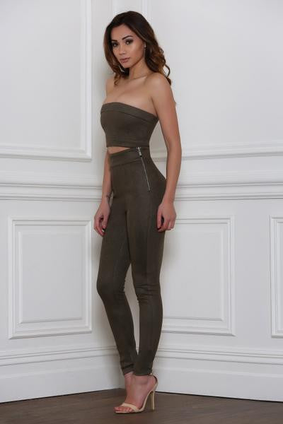 Bottoms - Rhythm And Suede Pants-Khaki