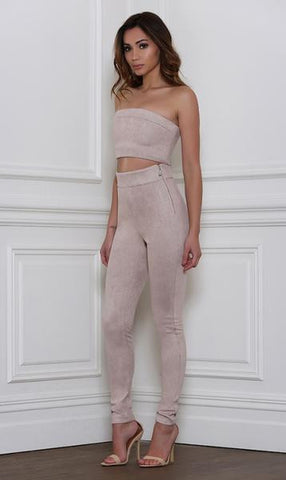 Rhythm and Suede Pants- Taupe - Alyanna by Alexandra