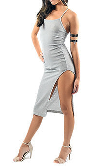 Grey Ribbed Dressed - Alyanna by Alexandra