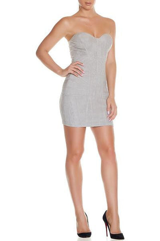 Maasin Suede Dress- Grey - Alyanna by Alexandra