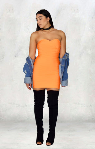 Orange Bandage Dress - Alyanna by Alexandra
