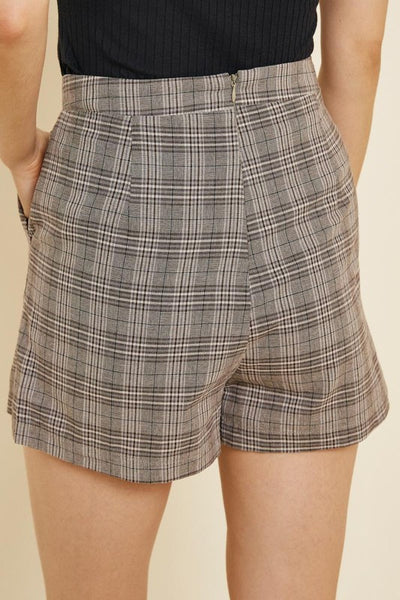 Vintage Plaid Trouser Shorts - Alyanna by Alexandra