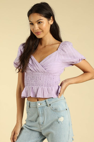 Purple Puff Top - Alyanna by Alexandra