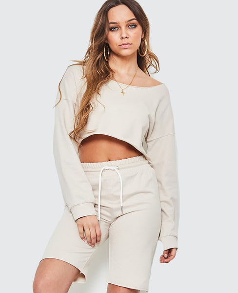 Off The Shoulder Two Piece Lounge Set - Alyanna by Alexandra