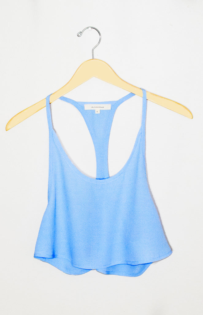 Blue Sway Crop Top