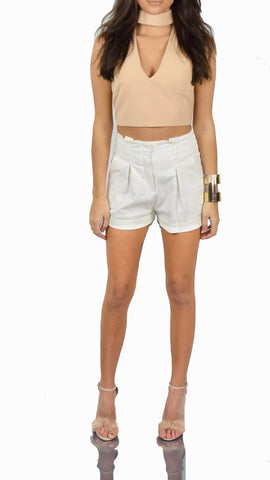 Tops - Almost Tan Crop Top