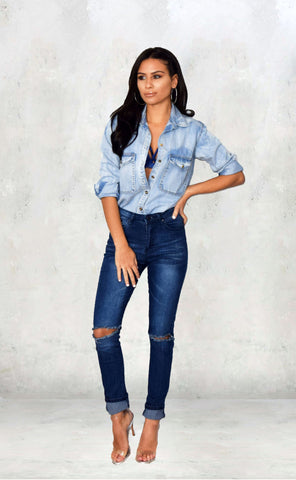 Denim Shirt - Alyanna by Alexandra