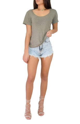 Scooped Easy Tee - Alyanna by Alexandra