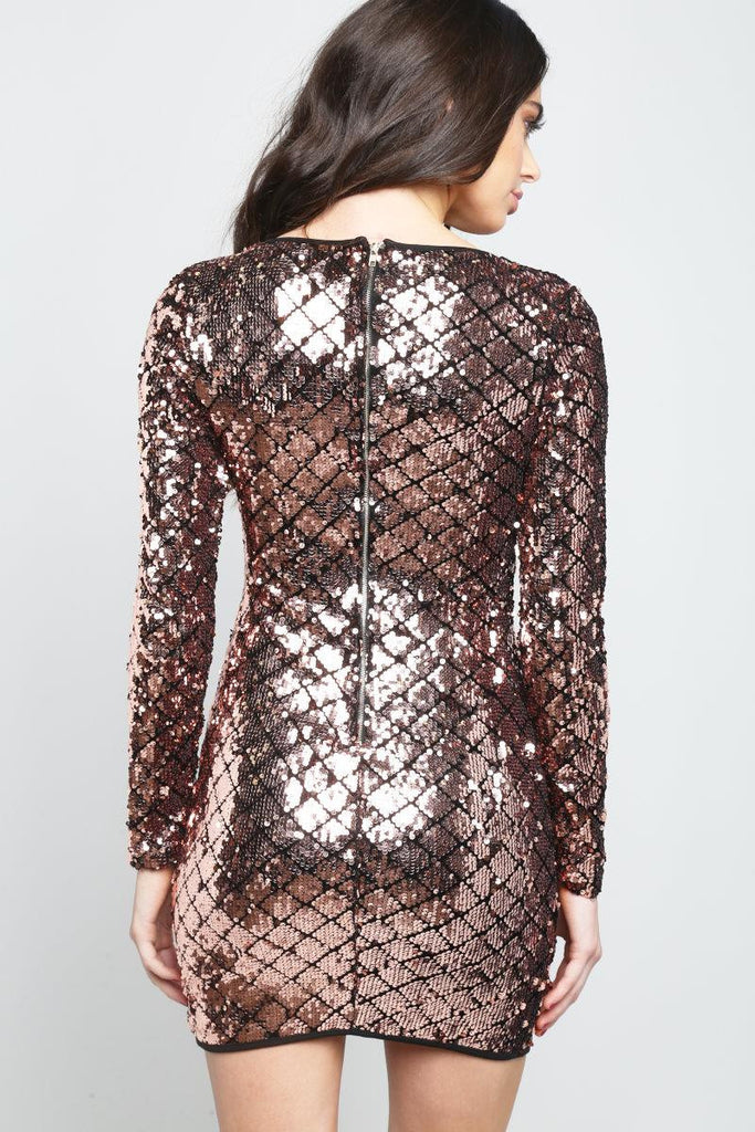 Dori V-Neck Sequin Dress - Adore Fashion