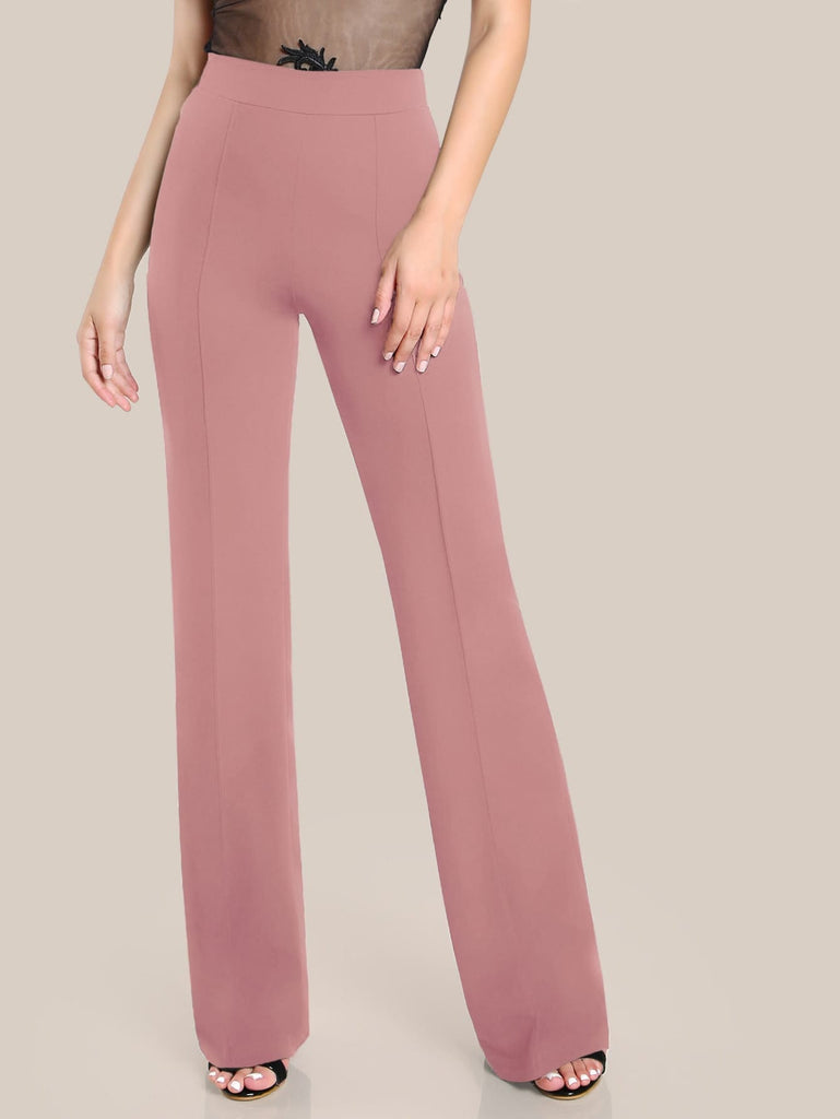 Waistband Straight Leg Pants - Adore Fashion