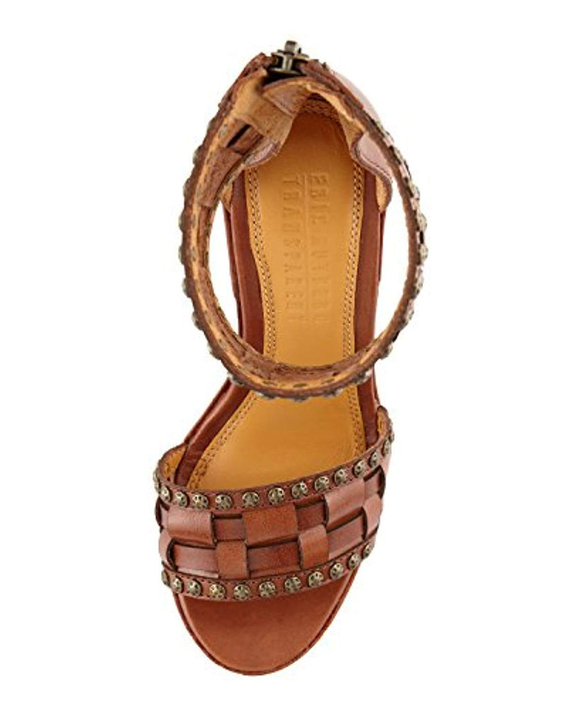 Eric Rutberg Transparent Metro Ankle-Wrap Platform Wedge Sandal, Brown - Adore Fashion