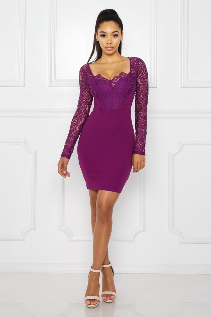 Lara Lace Binding Dress - Adore Fashion