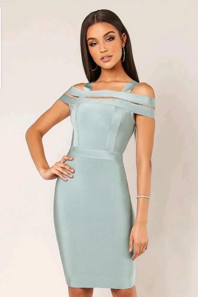 Tina cold shoulder bandage dress - Adore Fashion