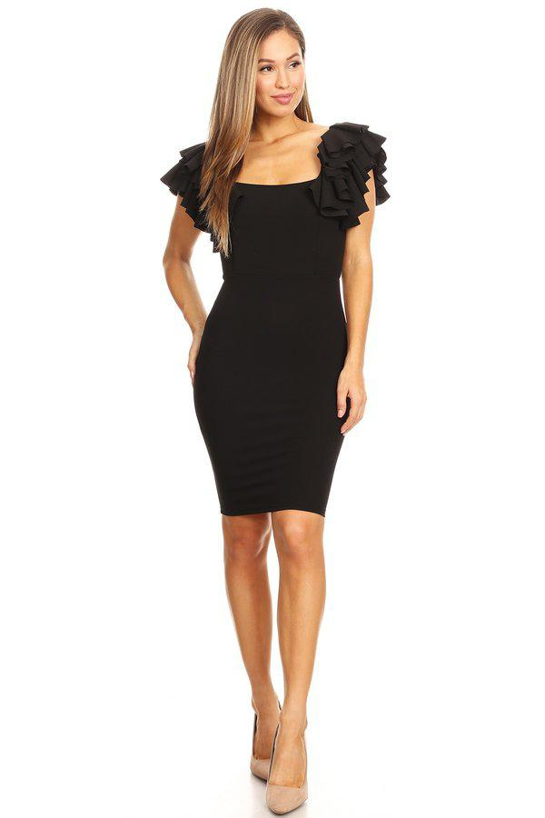 Kaylee Ruffle Dress - Adore Fashion