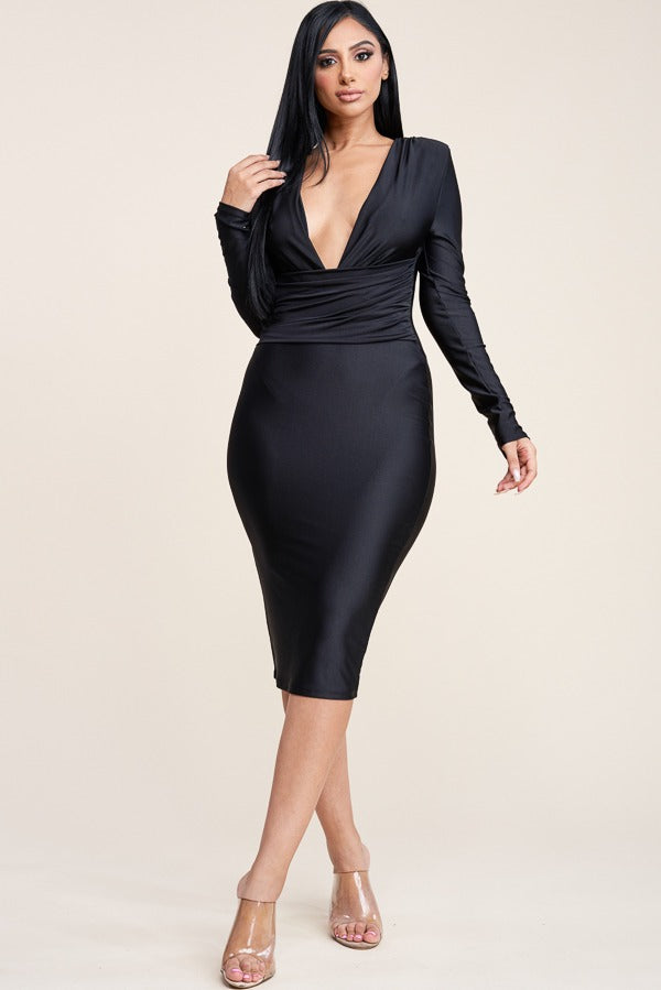 Joanne Crunch Dress - Adore Fashion