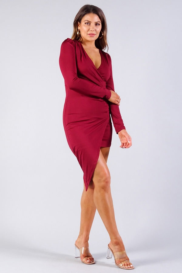 Puff Asymmetical Dress