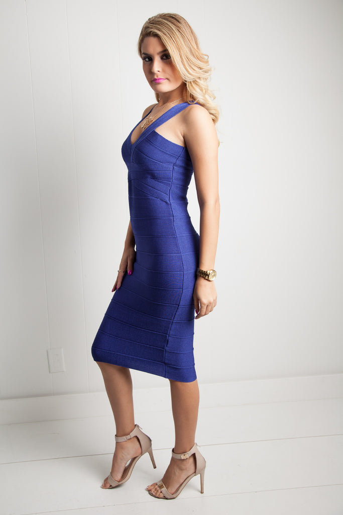 Demi Bandage Dress - Adore Fashion