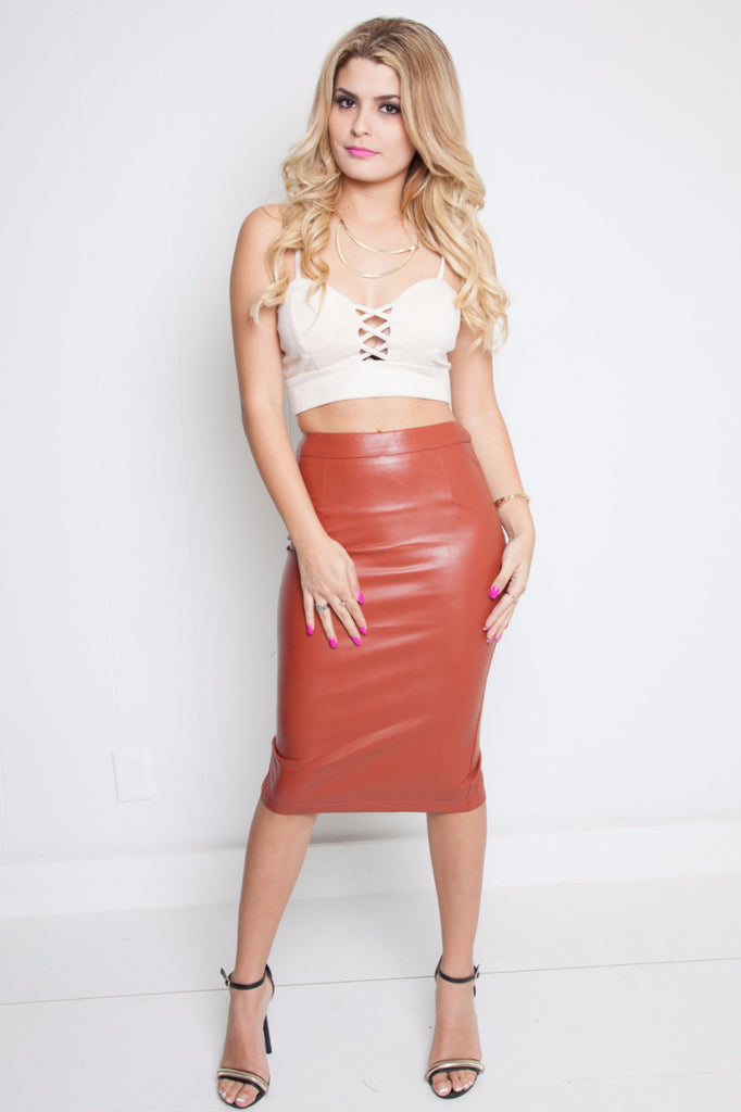 Elin Leather Skirt - Adore Fashion