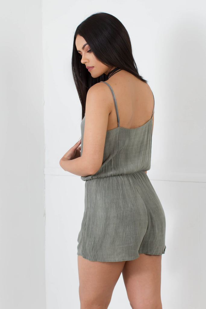 Sexy Smile Olive Romper - Adore Fashion