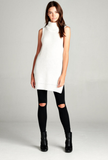 LILI TURTLE NECK SWEATER TUNIC - Adore Fashion