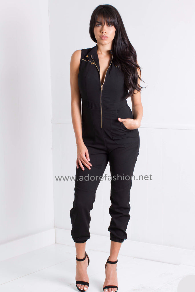 Jay Olive Jumpsuit - Adore Fashion