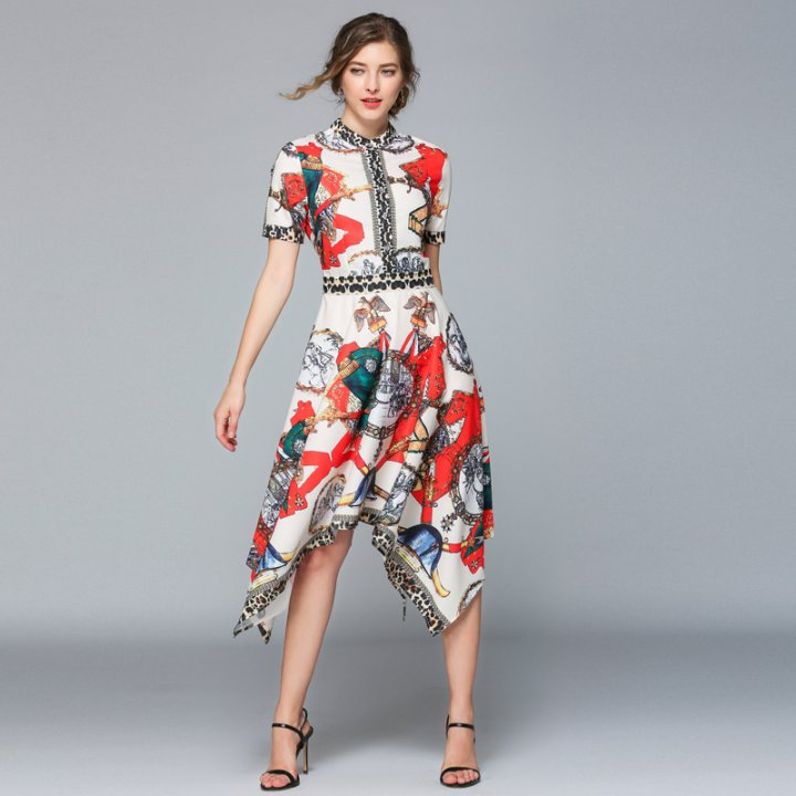 Adore Printing Dovetail dress - Adore Fashion