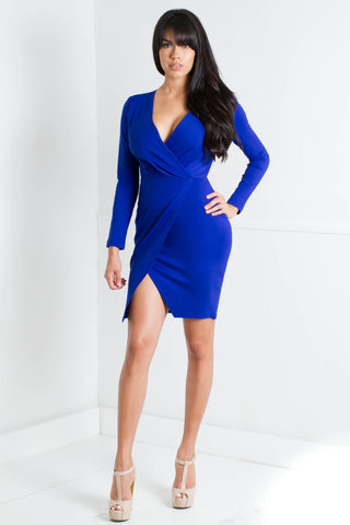 Scallop Edge Split Back Dress