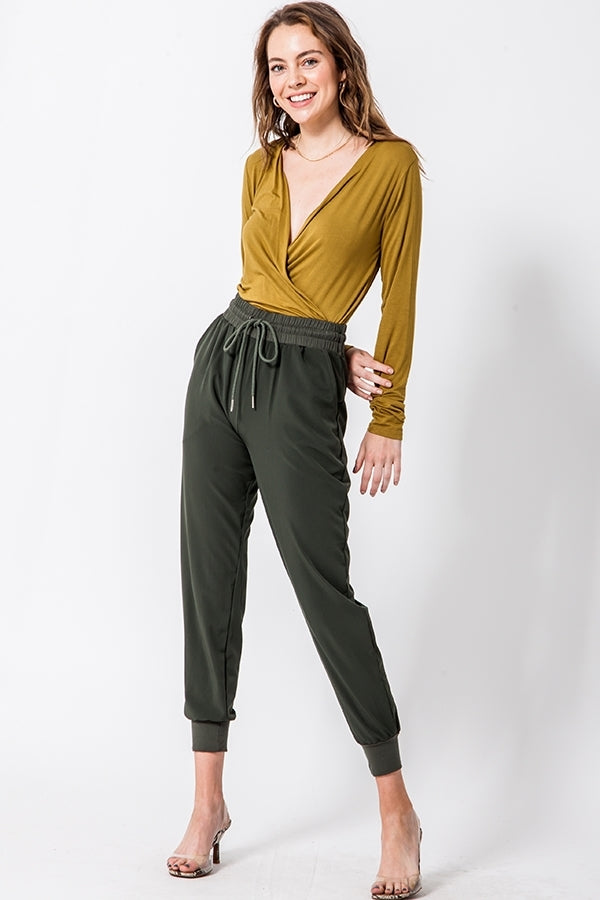 ECRU OLIVE BODYSUIT - Adore Fashion