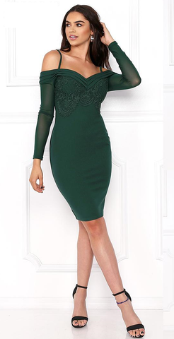 Hunter green chic dress