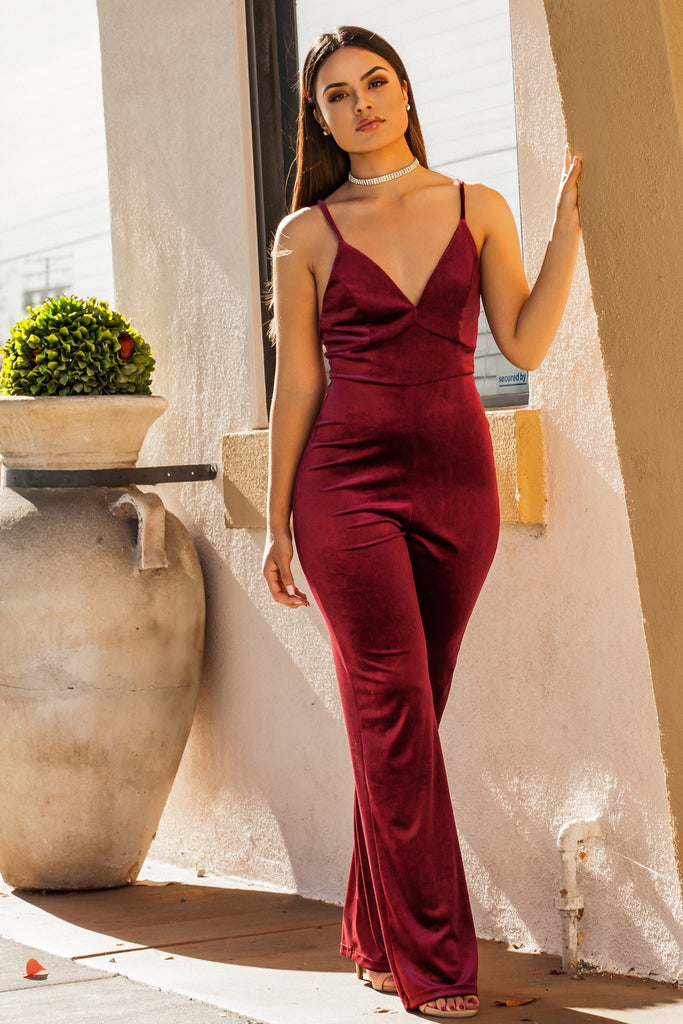 Obsessed Velvet Jumpsuit - Adore Fashion