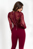 Midnight Train Lace Jumpsuit - Adore Fashion