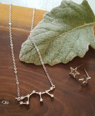 Astrology Galaxy Constellation Sign Necklace Birthday Wedding Gift