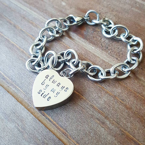 Heart Shaped Cremation Urn Bracelet - Always by My Side