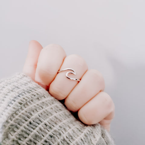 Wave Ring - Sterling Silver Ring