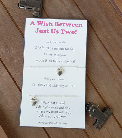 Back to School Mommy and Me Wish Bracelet Mom and Daughter/ Mom and Son