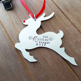 Family Name Deer Ornament
