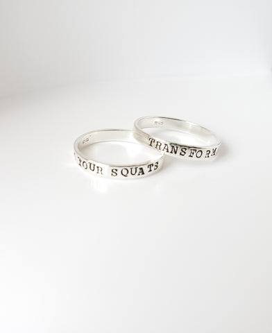 Fitness Motivation Ring - Personalized Stacking Ring