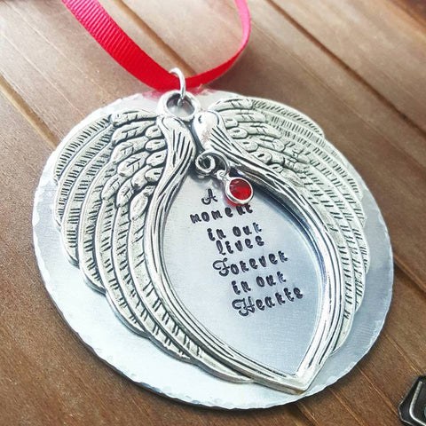 Memorial Angel Wing Christmas Ornament