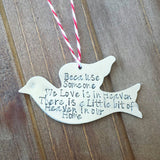 Memorial Dove Christmas Ornament