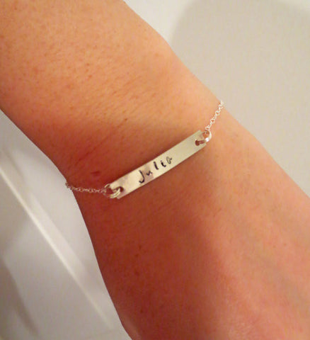 Bar Bracelet - Personalize with Initials, Name or Date