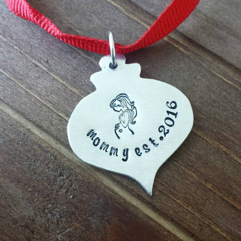 New Mommy Christmas Ornament Mini – DreamWillowStudio