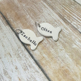 Add a Hand Stamped Fish Charm