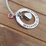 Always in my Heart Cremation Urn Heart Charm Necklace